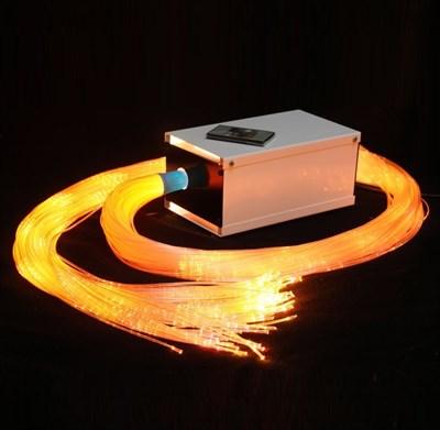 Пучок фибероптических волокон в оболочке 100 шт с источником света - фото 12054