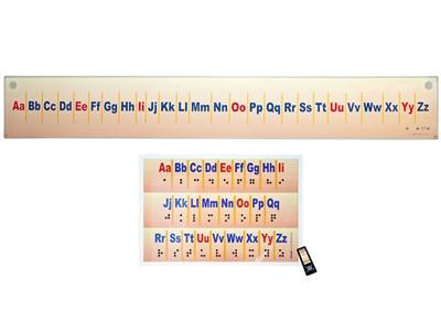 """Интерактивный стенд-лента """"Алфавит"""" адаптивный, с пультом управления и планшетом со шрифтом Брайля (иностранный язык) - фото 17987"""