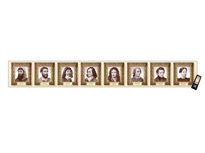 """Интерактивный стенд-лента """"Выдающиеся деятели математики"""" адаптивный, с пультом управления и планшетом со шрифтом Брайля (математика) - фото 17990"""