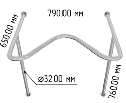 Поручень для раковины с выемкой Y1 арт.2620 - фото 19090