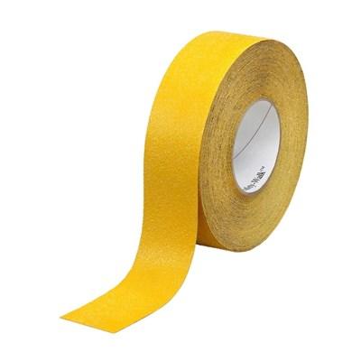 """Наклейка """"Желтая полоса"""" противоскользящая для ступеней и других поверхностей 25мм - фото 4682"""