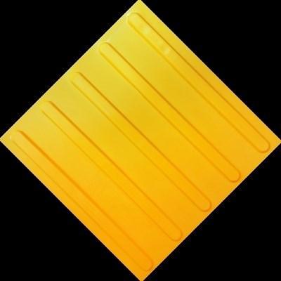 Плитка тактильная тротуарная (полиуретановая, 300х300 мм, продольные рифы) - фото 4798
