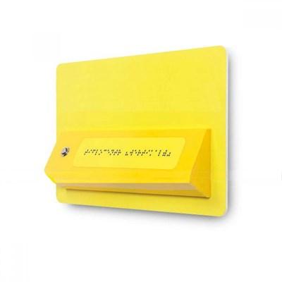 Звуковой указатель (говорящая табличка) с наклонной тактильной зоной - фото 6398