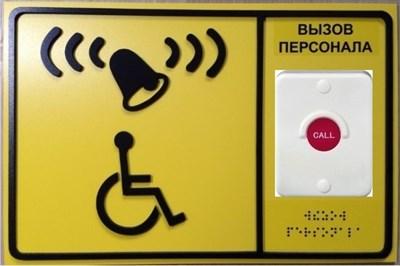 Кнопка вызова с табличкой для комплектов А310, А311, А312, APE510.1, APE510.2 - фото 7004