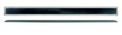 Тактильный индикатор полоса из алюминия для приклеивания - фото 7375