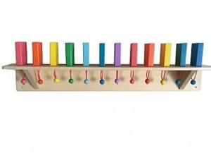 """Тактильно-развивающая панель """"Разноцветное домино"""" 12 штук ИМ24931"""