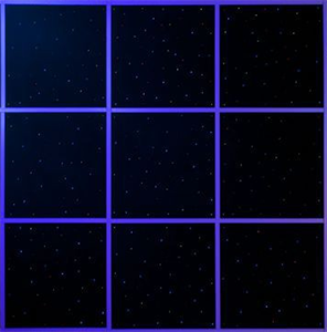 Потолок звездное небо. Комплект из 9-ти плиток