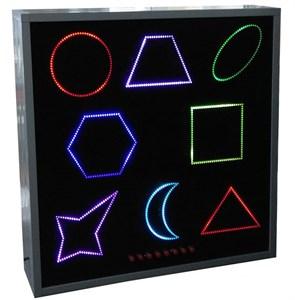 Панель (панно) интерактивная цветные фигуры 8 шт
