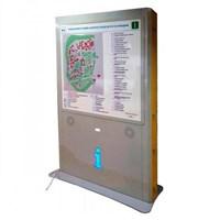 Тактильно-звуковая мнемосхема для парка, открытой территории, вокзала, метро