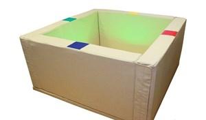 Сухой бассейн с подсветкой 150х150х66 см