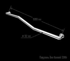 Поручень для ванной прямой настенный ломанный, 1000мм
