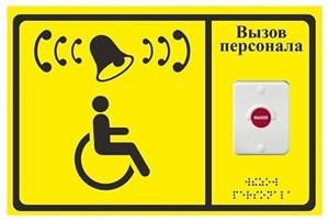 Дополнительная кнопка вызова с табличкой для комплектов А310, А311, А312, APE510.1, APE510.2