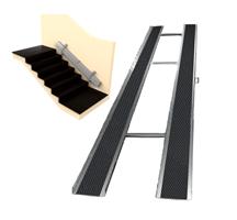 Откидной пандус из оцинкованной стали, складной,  длиной до 2,5 м с абразивным покрытием