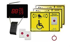 Универсальная система вызова персонала APE510.3ш для входа и санузла