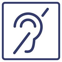 """Визуальный знак """"Доступность для инвалидов по слуху"""" ГОСТ Р 521131, ПОЛИСТИРОЛ"""