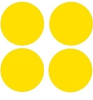 """Комплект информационных наклеек """"Желтый круг"""" для одной двери"""