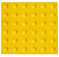 Тактильная плитка тротуарная (полиуретановая, 300х300х6 мм, конусообразные (л) рифы)