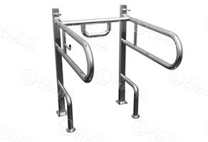 Поручень для инвалидов к унитазу с опорой для спины и рук
