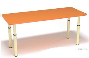Детский регулируемый двухместный стол на металлическом каркасе DS1