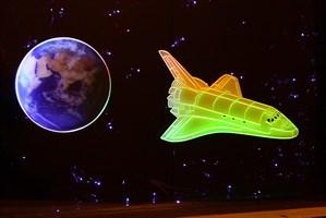 """Панель """"Звёздное небо с Шатлом""""  125х90 см"""