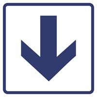 """Визуальные знаки """"Направления движения, прямая стрелка"""" ГОСТ Р 521131, ПОЛИСТИРОЛ"""
