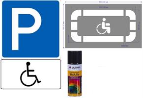 """Комплект для разметки """"Парковка для инвалидов"""""""