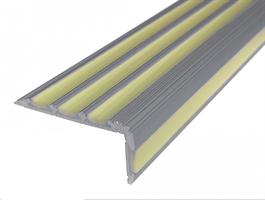 Алюминиевый угол с 4 фотолюминесцентными вставками, 120 см