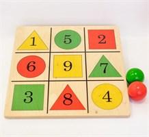 Мишень напольная цветная с цифрами