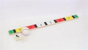 Мяч-маятник и планка для отбивания с цифрами