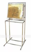 Мнемосхема 470x610мм с подложкой из оргстекла на стойке