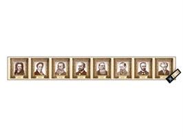 """Интерактивный стенд-лента """"Выдающиеся ученые-историки"""" адаптивный, с пультом управления и планшетом со шрифтом Брайля (история)"""