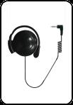 Накладной наушник с держателем на ухо для аудиогида С7