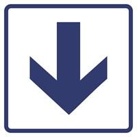 """Визуальные знаки """"Направления движения, прямая стрелка"""" ГОСТ Р 521131, ПВХ 3мм"""