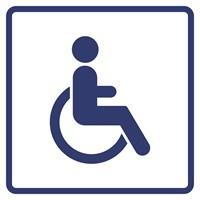"""Визуальный знак """"Доступность для инвалидов, передвигающихся на креслах-колясках"""" ГОСТ Р 521131, ПВХ 3мм"""