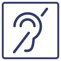 """Визуальный знак """"Доступность для инвалидов по слуху"""" ГОСТ Р 521131, ПВХ 3мм"""