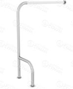 Поручень для туалета с ПВХ накладкой напольный для инвалидов h-образный - Левый