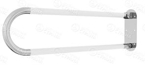 Поручень для туалета с ПВХ накладками настенный откидной без бумагодержателя 800х200