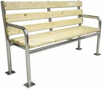Скамья с опорой для спины и подлокотниками