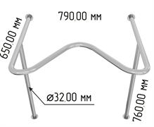 Поручень для раковины с выемкой Y1 арт.2620
