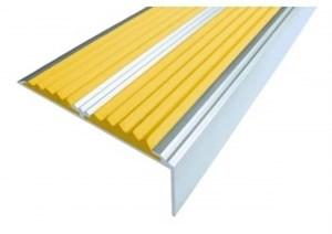 Алюминиевый угол с 2-мя резиновыми вставками, 100 см