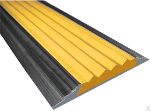 Алюминиевая полоса с 1 резиновой вставкой