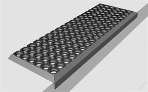 Накладка на ступень (черная, резиновая, ячеистая) 260ммх1100мм