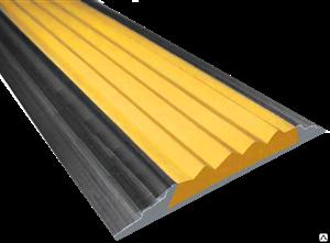 Алюминиевая накладка с одной противоскользящей лентой, 200см