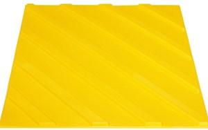Плитка тактильная для помещений (ПВХ, 300х300 мм, диагональные рифы)