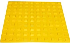 Плитка тактильная для помещений (ПВХ, 300х300 мм, квадратные рифы)