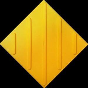 Плитка тактильная тротуарная (полиуретановая, 300х300 мм, диагональные рифы)