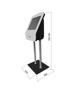 Киоск информационный напольный сенсорный 19''