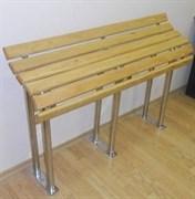 Скамейка для инвалидов из нержавеющей стали и лиственницы 1200*791*285мм