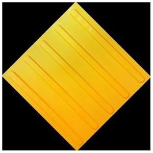 Плитка тактильная тротуарная (полиуретановая, 500х500 мм, продольные полосы)