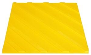 Плитка тактильная для помещений (ПВХ, 500х500х7мм, диагональные полосы)